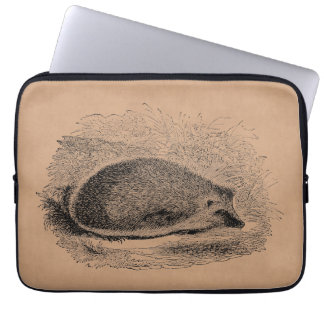 Vintage Igel 1800s Igels-Illustration Laptop Sleeve Schutzhülle