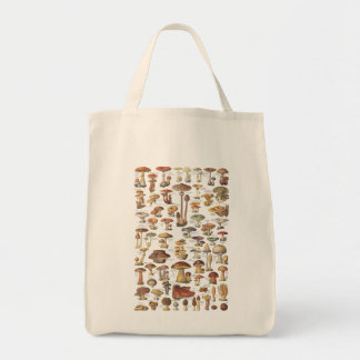 Vintage Illustration der Pilze Einkaufstasche