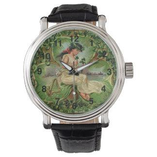 Vintage Illustration des süßen kleinen Uhr