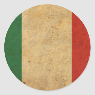 Vintage Italien-Flagge Runder Aufkleber