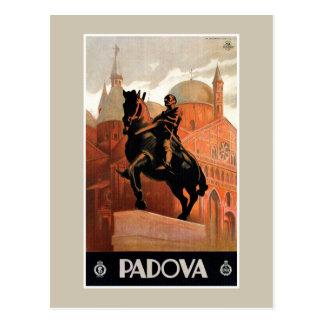 Vintage italienische Reise Paduas Padua Postkarte