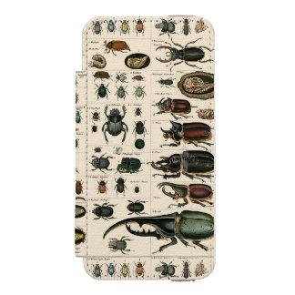 Vintage Käfer-Illustration Incipio Watson™ iPhone 5 Geldbörsen Hülle