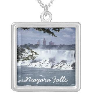 Vintage Kanada Gewohnheits-Halskette Niagara Versilberte Kette