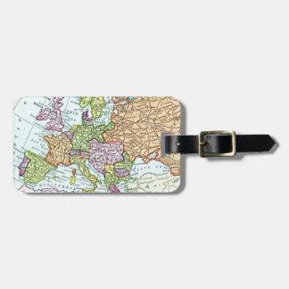 Vintage Karte bunter Pastelle Europas Adress Schild
