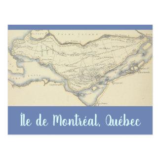 Vintage Karte der Insel von Montreal, Quebec