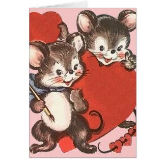 Vintage Karte des Valentines der Kinder Tages