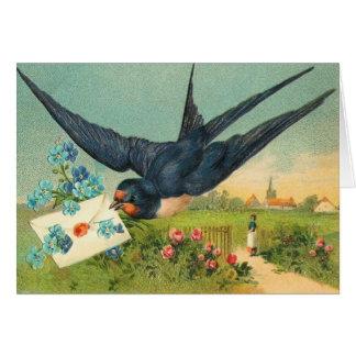 Vintage Karte des Valentines Tages