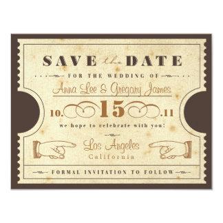 Vintage Karte Save the Date 10,8 X 14 Cm Einladungskarte