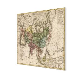 Vintage Karte von Asien (1805) Leinwand Druck