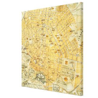 Vintage Karte von Athen Griechenland (1894) Gespannte Galerie Drucke