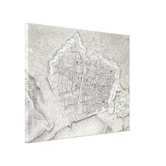 Vintage Karte von Barcelona Spanien (1806) Galerie Falt Leinwand