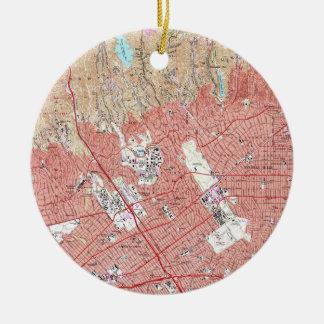 Vintage Karte von Beverly Hills Kalifornien Keramik Ornament