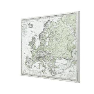 Vintage Karte von Europa (1862) Galerie Faltleinwand