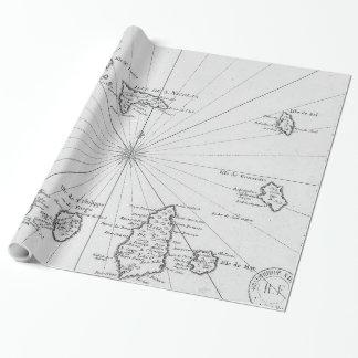 Vintage Karte von Kap-Verde (1746) Geschenkpapier