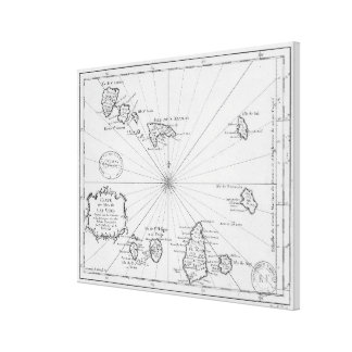 Vintage Karte von Kap-Verde (1746) Leinwanddrucke