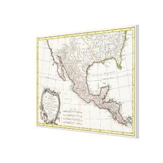 Vintage Karte von Mexiko (1771) Galerie Gefaltete Leinwand
