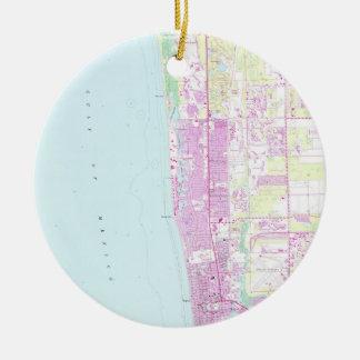 Vintage Karte von Neapel Florida (1958) Keramik Ornament
