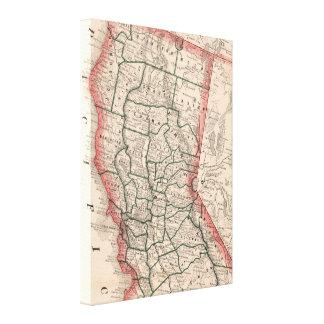 Vintage Karte von Nordkalifornien (1883) Leinwanddrucke