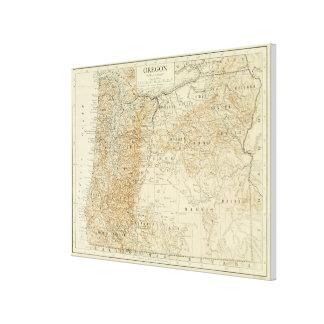 Vintage Karte von Oregon (1911) Leinwand Drucke