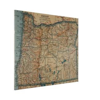 Vintage Karte von Oregon (1921) Leinwand Drucke