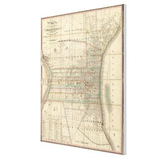 Vintage Karte von Philadelphia Pennsylvania (1830) Gespannter Galeriedruck