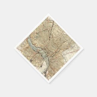 Vintage Karte von Richmond Virginia (1934) Papierserviette