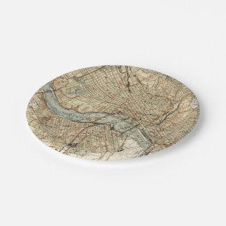 Vintage Karte von Richmond Virginia (1934) Pappteller
