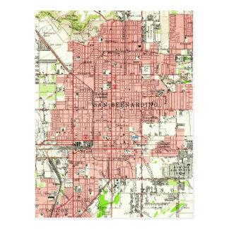 Vintage Karte von San Bernardino Kalifornien