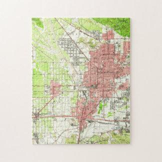 Vintage Karte von San Bernardino Kalifornien Puzzle