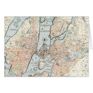 Vintage Karte von Stockholm (1733)