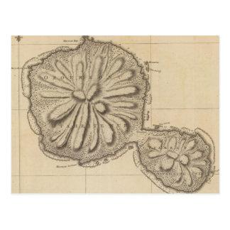 Vintage Karte von Tahiti (1773)