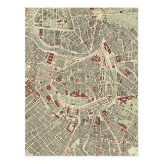 Vintage Karte von Wien Österreich (1883) Postkarte
