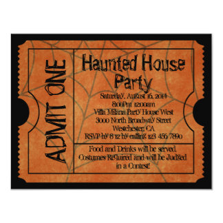 Vintage Karten-Spuk Haus Halloween 10,8 X 14 Cm Einladungskarte