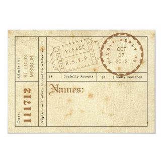 Vintage Karten-Vorsprungs-Wartekarte 8,9 X 12,7 Cm Einladungskarte