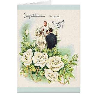 Vintage katholische Hochzeits-Gruß-Karte Karte