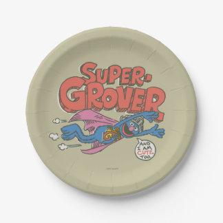 Vintage Kinder 1 Grover Pappteller 17,8 Cm