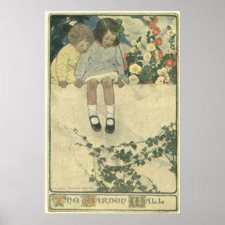 Vintage Kinder, Garten-Wand Jessie Willcox Smith Poster