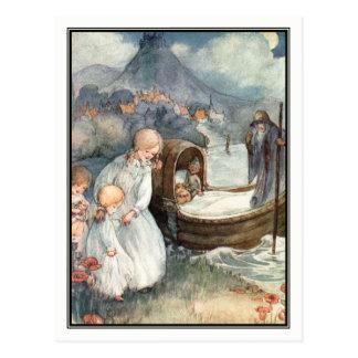 Vintage Kinder und Fähre durch Anne Anderson Postkarte