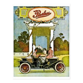 Vintage klassische Auto-Anzeige Peerless Motor Postkarte