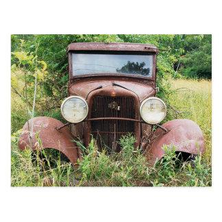 Vintage klassische Auto-Rost-Eimer-Fotografie Postkarten