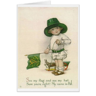 Vintage kleinen irischen Jungen-St Patrick Karte