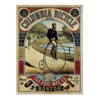 Vintage Kolumbien fährt Anzeige rad Poster