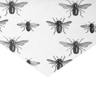 Vintage Königin-Biene u. Seidenpapier