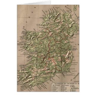 Vintage körperliche Karte von Irland (1880)