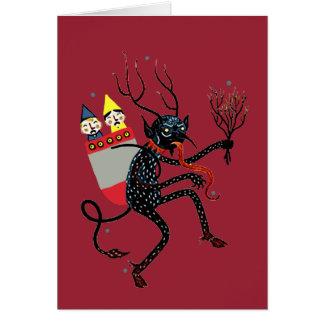 Vintage Krampus Weihnachtskarte Grußkarte