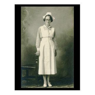 Vintage Krankenschwester-Postkarte Postkarte