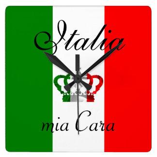 Vintage Kronen-moderne Italien-Italiener-Flagge Uhren