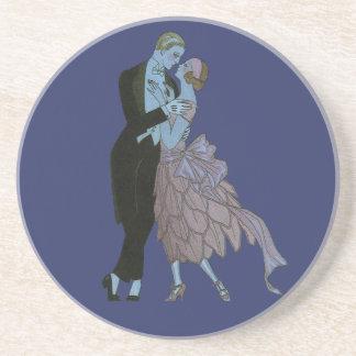Vintage Kunst-Deko-Jungvermählten, Liebe-Wedding Getränkeuntersetzer