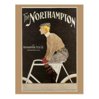 Vintage Kunst Nouveau bicyle Anzeige Postkarte
