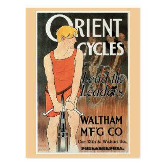Vintage Kunst nouveau Fahrradanzeige Postkarte